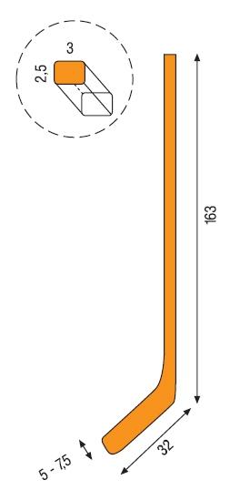 Velikost hokejky - Rozměry - velikosti 9c4e635b9e